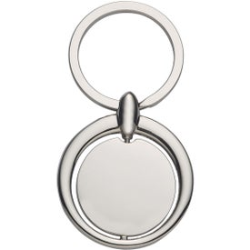 Circular Spinning Metal Key Tag