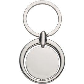 Circular Spinning Metal Key Tag
