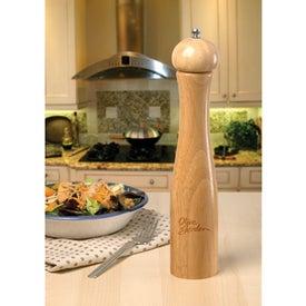 "Classic 12"" Pepper Mill Imprinted with Your Logo"
