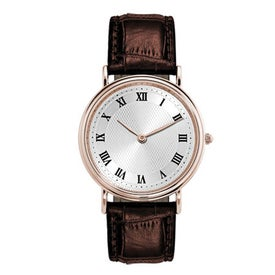 Classic-Style Men's Watch with Your Slogan