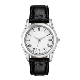 Imprinted Classic Styles Silver Finish Men's Watch