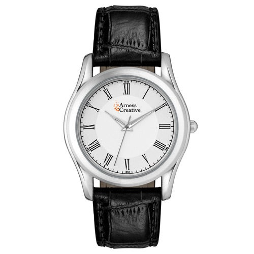 Black / Silver Classic Styles Silver Finish Watch