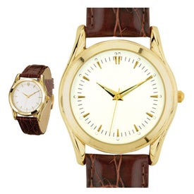 Classic Style Men's Gold Watch for Your Company