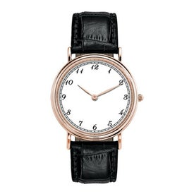 Rose Gold Classic Style's Mens Watch for Your Company