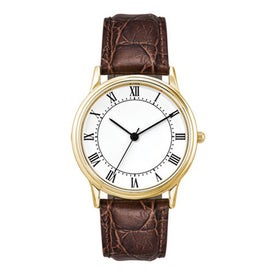 Monogrammed Classic Styles Three Hand Men's Watch