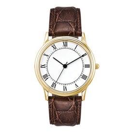 Monogrammed Classic Styles Three Hand Men's Watch
