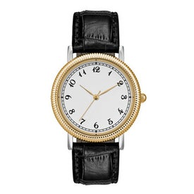 Gold and Silver Classic Styles Men's Watch for Advertising