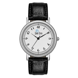 Classic Styles Mens Watch with Crocodile Leather Strap