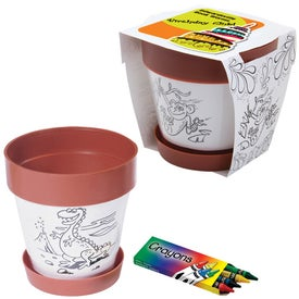 Clay Color Plastic Planter