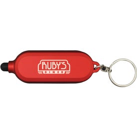 Imprinted Clear Style Key Chain