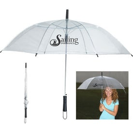 "Monogrammed 46"" Arc Clear Umbrella"