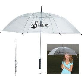 "Monogrammed 46"" Arc Clear Umbrella"