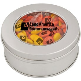 Monogrammed Clear-View Printed Candy Tin