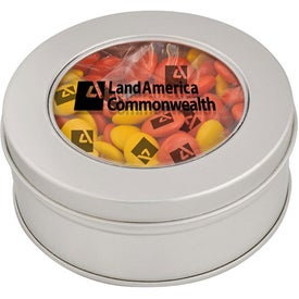 Branded Clear-View Printed Candy Tin