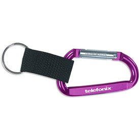 Clip And Go Carabiner Key Tag for Advertising