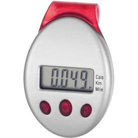 Clip-On Pedometer for Advertising