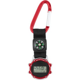 Promotional Clip-On Stopwatch with Compass and Strap