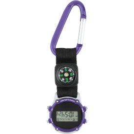 Clip-On Stopwatch with Compass and Strap for Advertising
