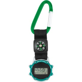 Clip-On Stopwatch with Compass and Strap for Marketing