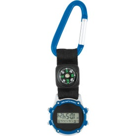 Personalized Clip-On Stopwatch with Compass and Strap