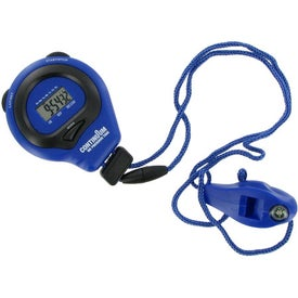 Personalized Coach's Friend Stopwatch and Whistle