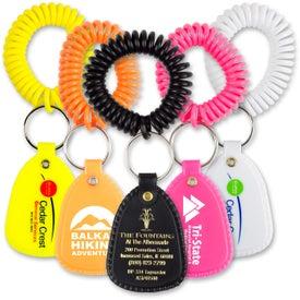 Customized Coil Wrist Bracelet with Tuff Tag