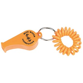 Company Coil Wrist Bracelet with Whistle