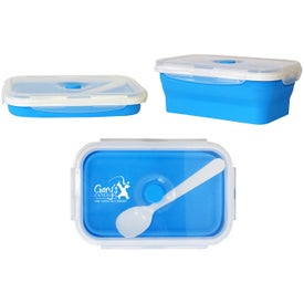 Collapsible Silicone Container with Spoon