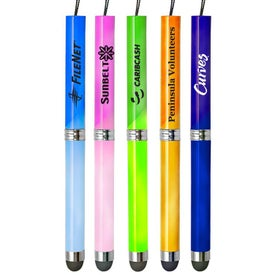 Color Changing Stylus Pen with Cleaning Cloth