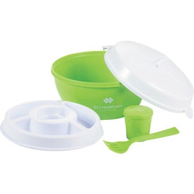 Monogrammed Color Dip Salad Bowl Set