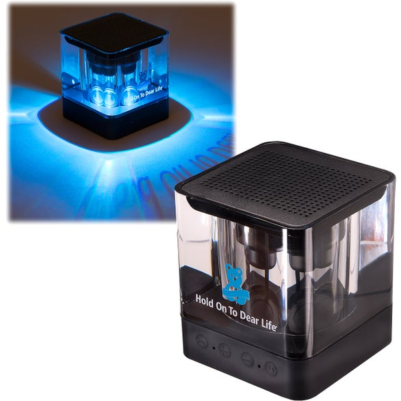 Black / Clear Color Glow Bluetooth Speaker