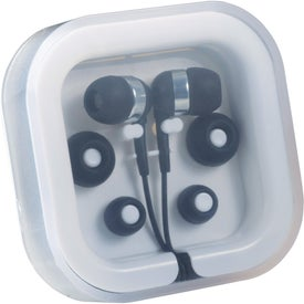 Color Pop Ear Buds with Mic for Marketing