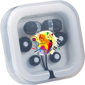 Printed Color Pop Ear Buds with Mic