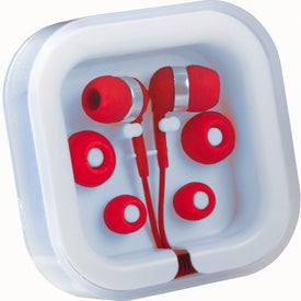 Imprinted Color Pop Earbuds With Microphone