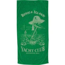 Imprinted Colored Beach Towel
