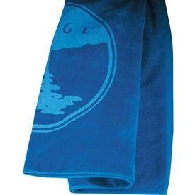 Monogrammed Colored Beach Towel
