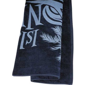 Colored Beach Towel Imprinted with Your Logo