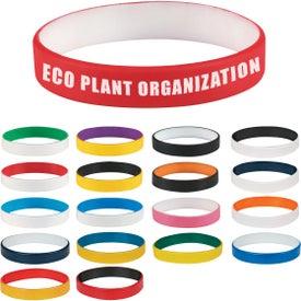 Custom Colored Letter Silicone Bracelet