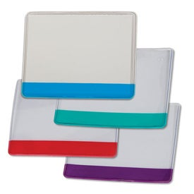 Colored Stripe Badge Holder with Pin