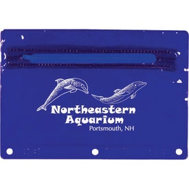 Colored Translucent Vinyl Zippered Pack with Your Slogan