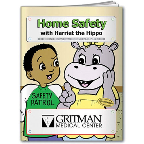 Promotional Coloring Book: Home Safeties with Custom Logo for $0.322 Ea.
