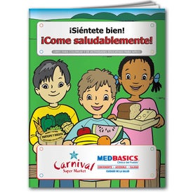 Coloring Book: Eat Healthy (Spanish)