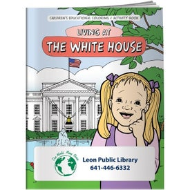 Coloring Book: Living at The White House Branded with Your Logo