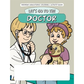 Coloring Book: Let's Go to the Doctor Imprinted with Your Logo