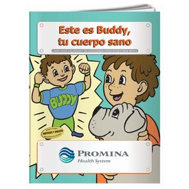 Meet Buddy Your Healthy Body Coloring Book (Spanish, 10 Sheets)