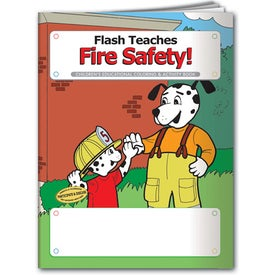 Logo Coloring Book: Flash Teaches Fire Safety