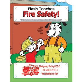 Flash Teaches Fire Safety Coloring Book (10 Sheets)