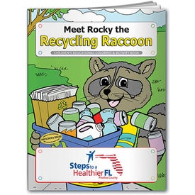 Meet Rocky the Recycling Raccoon Coloring Book (10 Sheets)