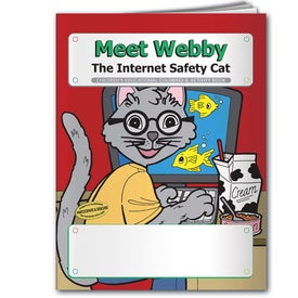 Coloring Book: Meet Webby The Internet Safety Cat with Your Logo