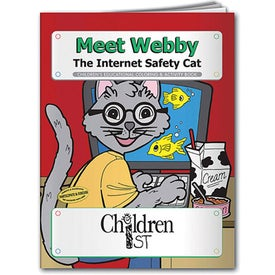 Meet Webby the Internet Safety Cat Coloring Book (10 Sheets)